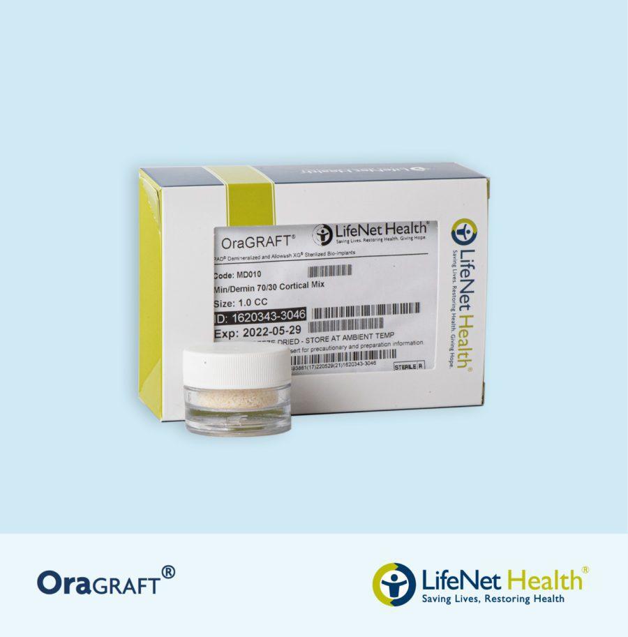 OraGRAFT® Hueso Cortical Particulado MIX 70% Mineralizado – 30% Desmineralizado